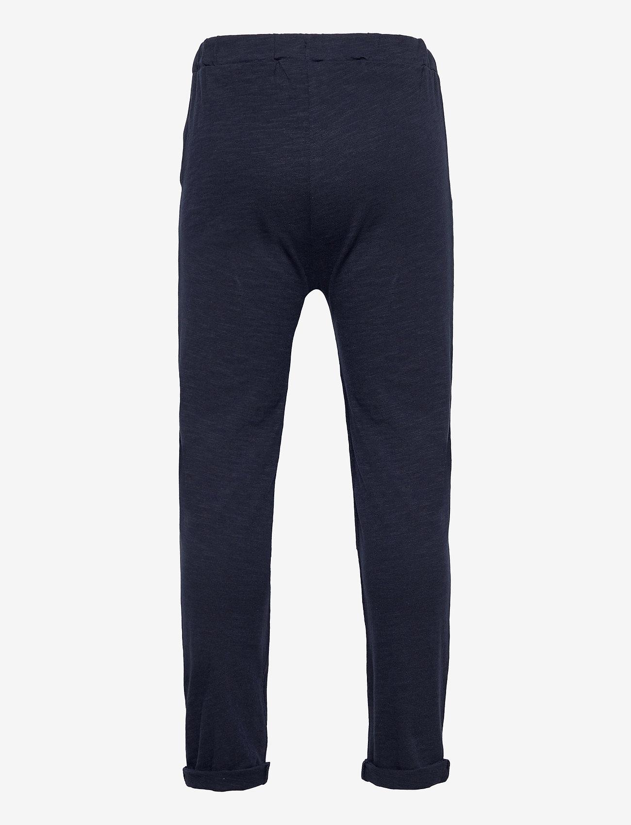 Lindex - Thin slub trousers   knee - sweatpants - blue - 1