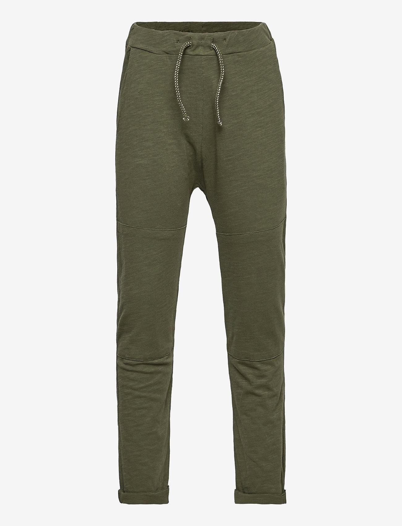 Lindex - Thin slub trousers   knee - sweatpants - khaki - 0