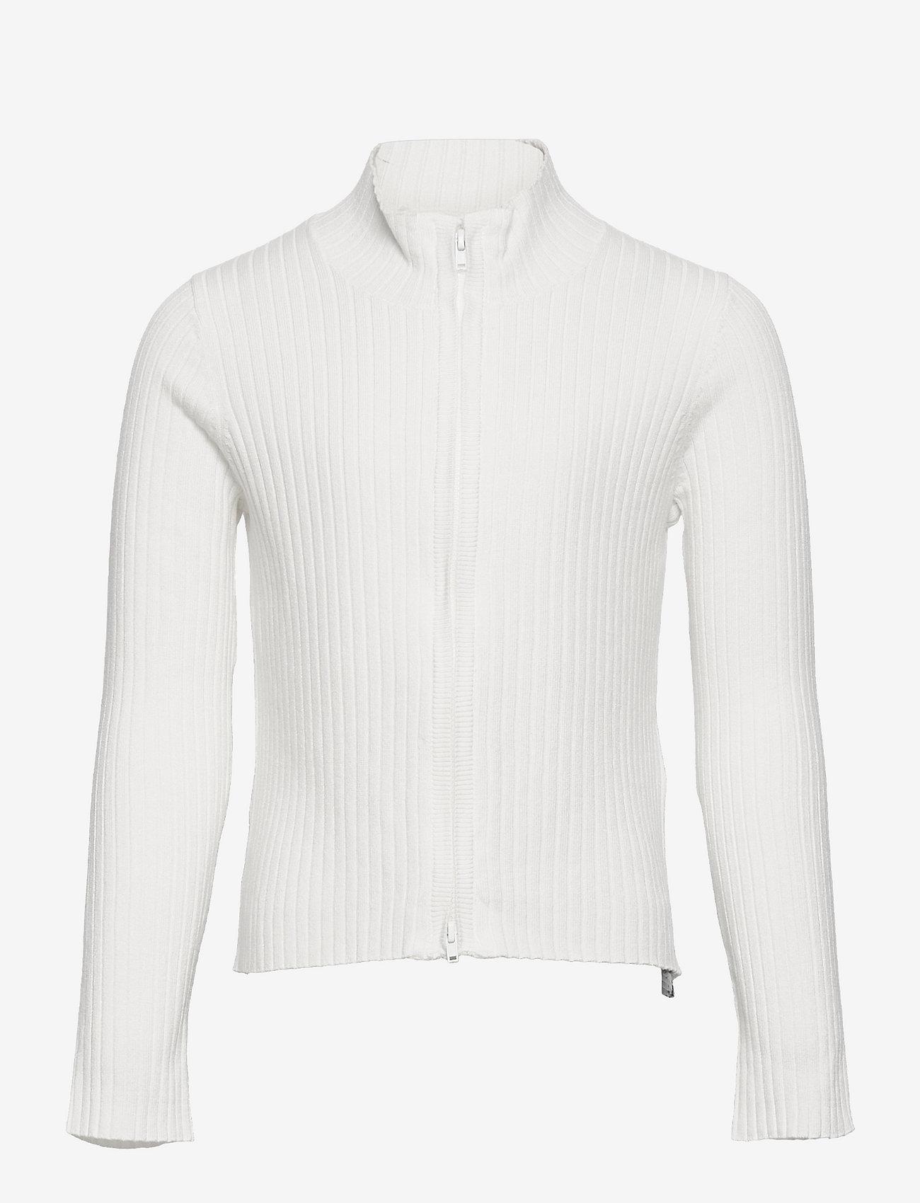 Lindex - Cardigan Vicky zip - gilets - white - 0