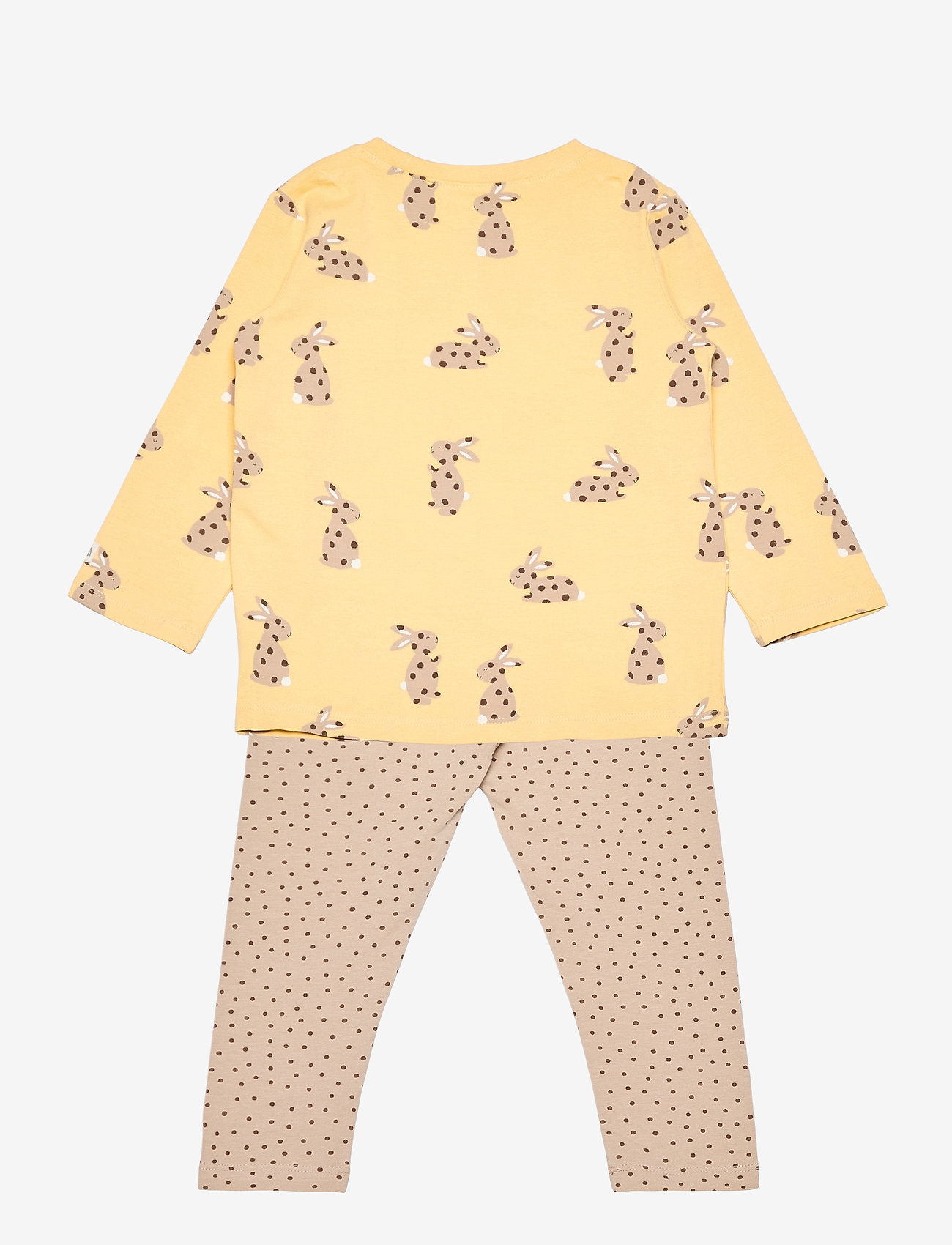 Lindex - Set top and leggings rabbit - 2-delige sets - yellow - 1