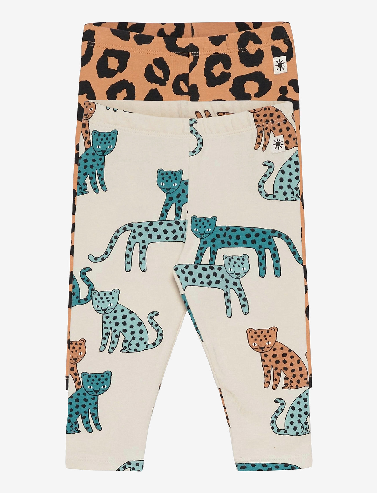 Lindex - Leggings leo animal   leo 2 pa - leggings - beige - 0
