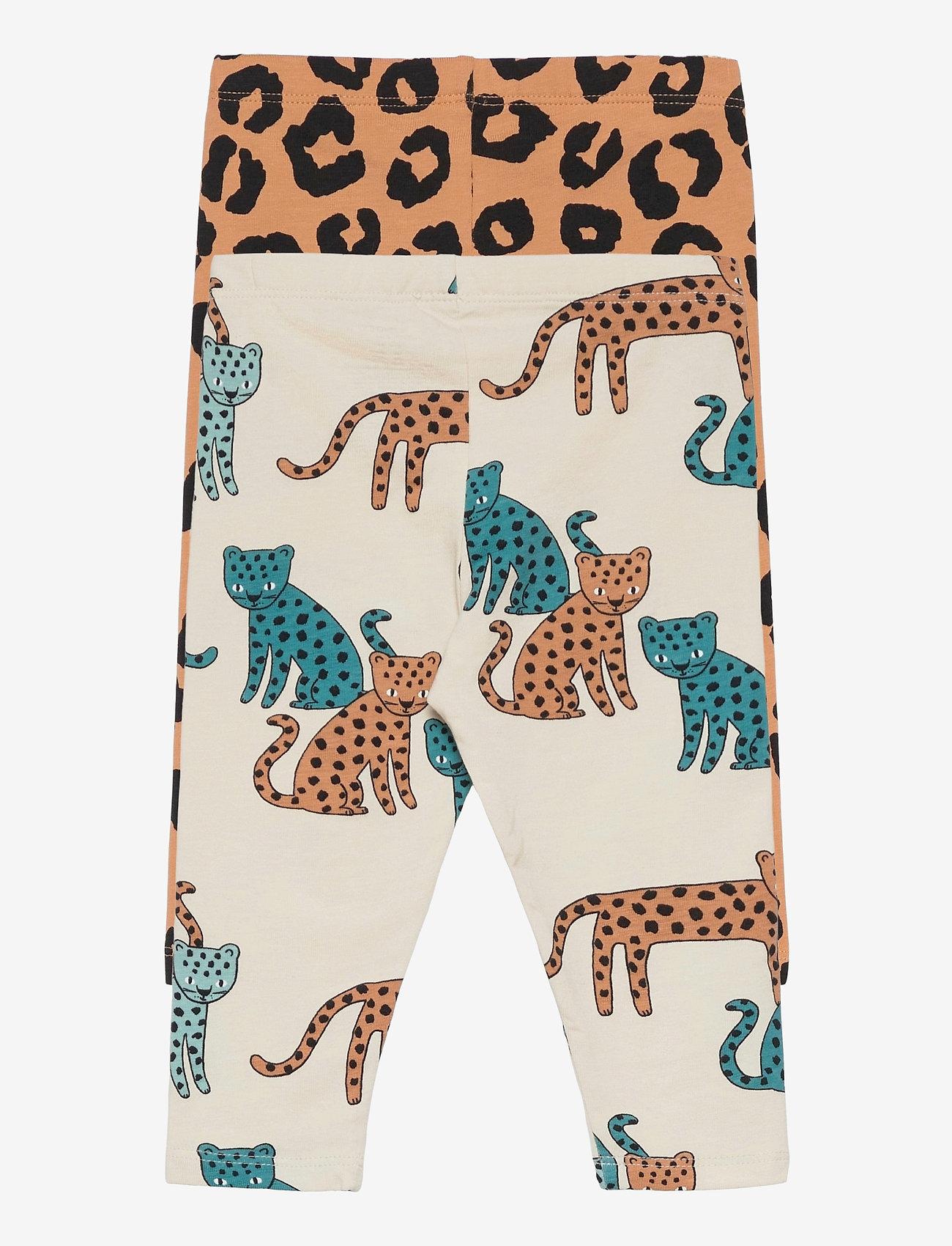 Lindex - Leggings leo animal   leo 2 pa - leggings - beige - 3