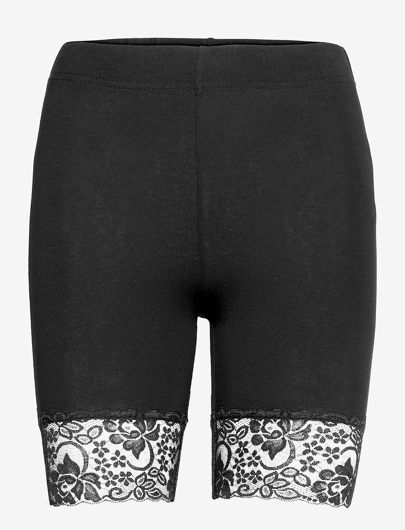 Lindex - Leggings Sally lace short - cykelshorts - black - 0