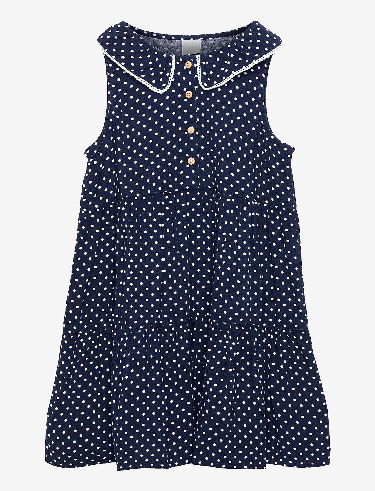 Lindex - Dress Evelina Viscose ao print - kleider - blue - 0
