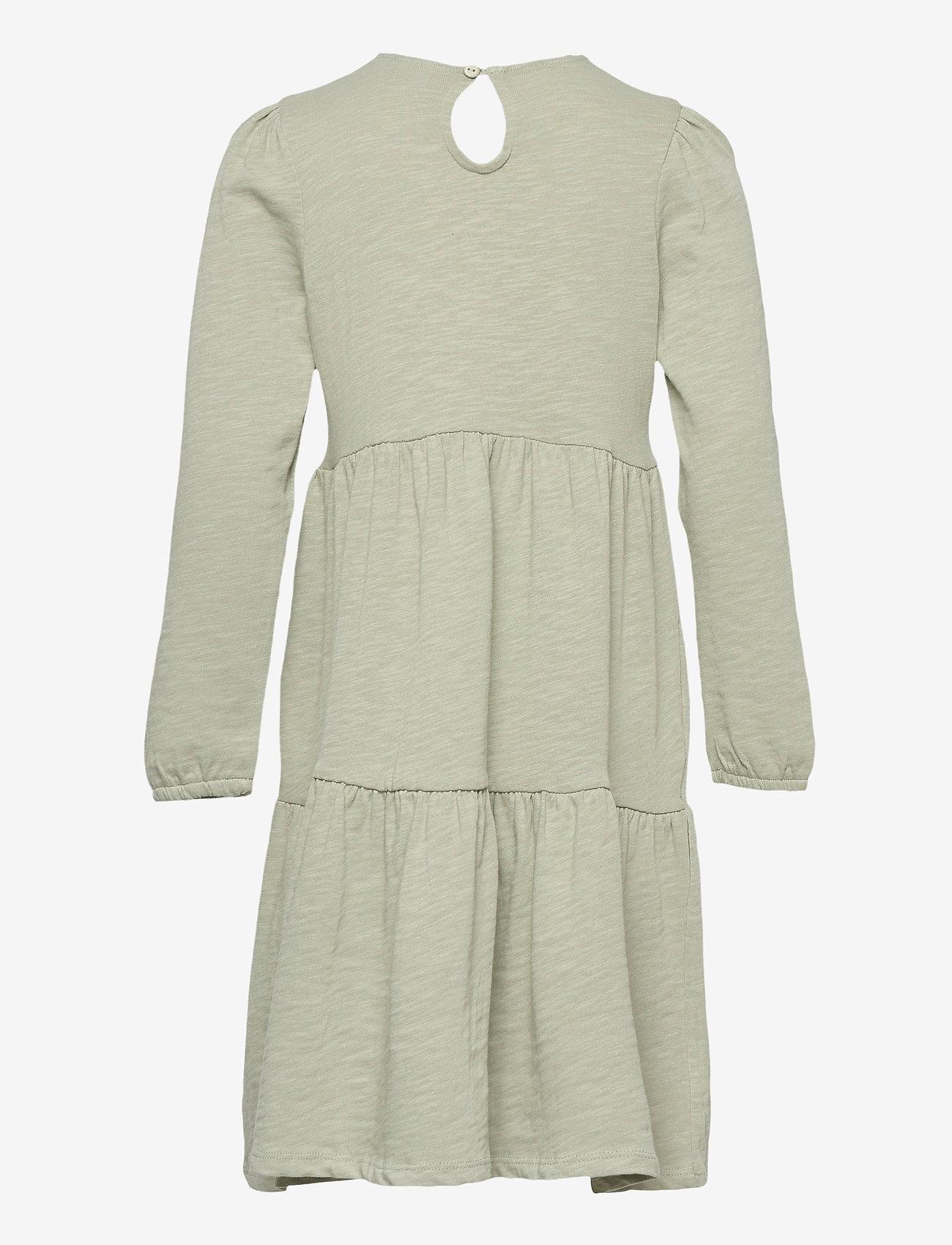 Lindex - Dress tricot solid - kleider - green - 1