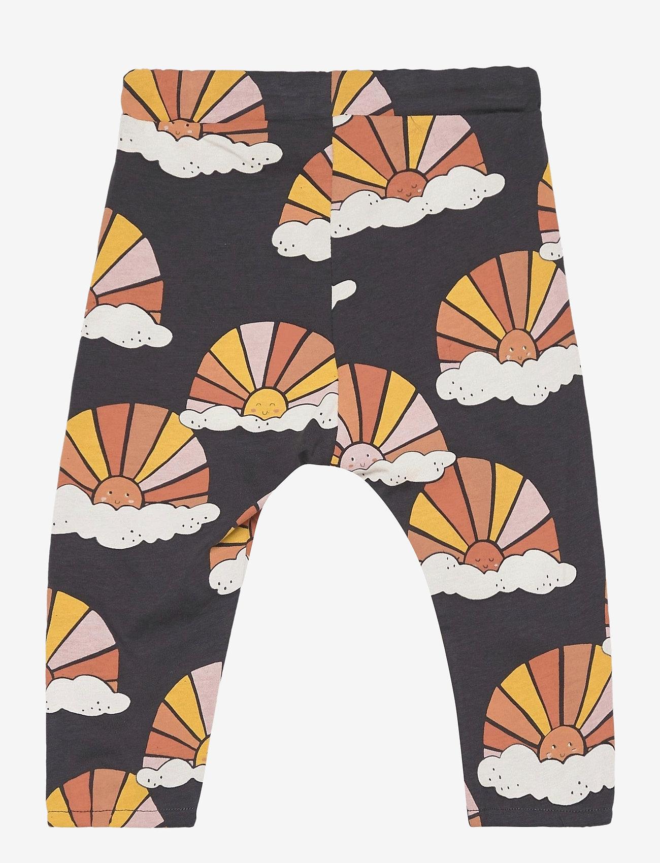 Lindex - Trousers Sun aop - bukser - black - 1