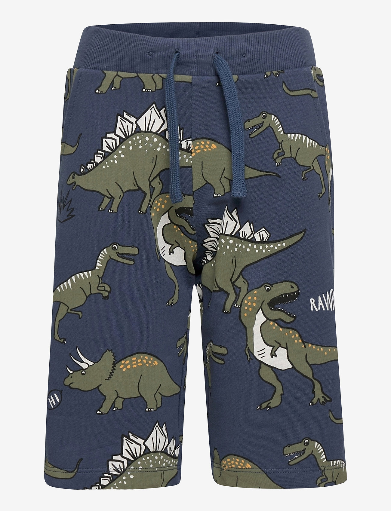 Lindex - Shorts Jersey aop dino - shorts - blue - 0