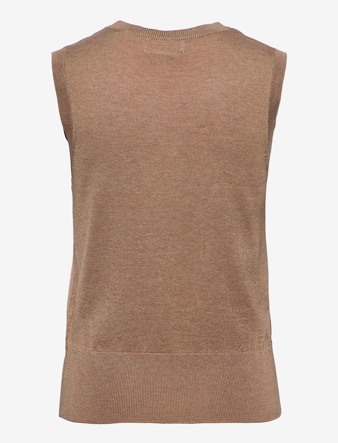Lindex - Vest Evelina - knitted vests - beige - 1