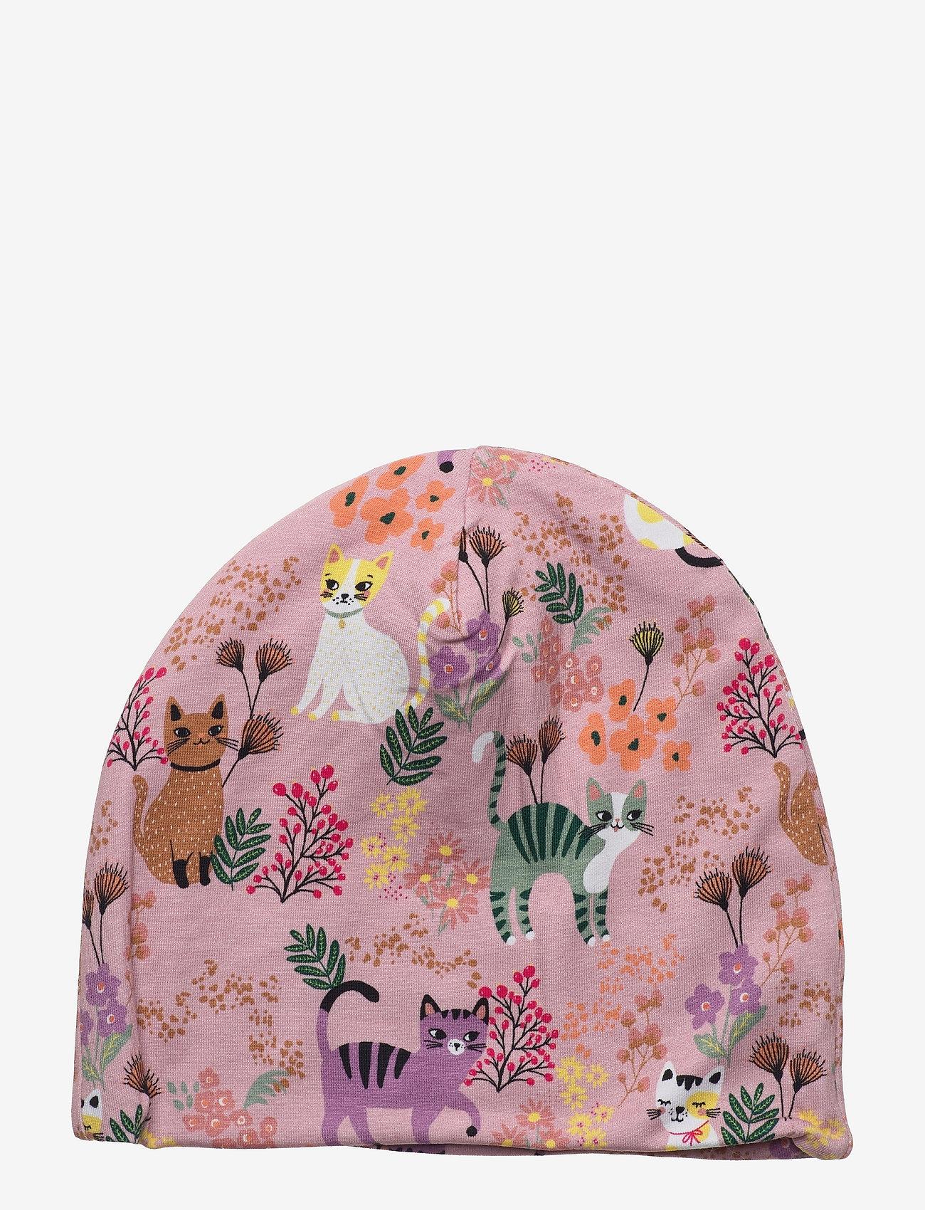 Lindex - Jersey beanie sweet cats - beanie - pink - 0