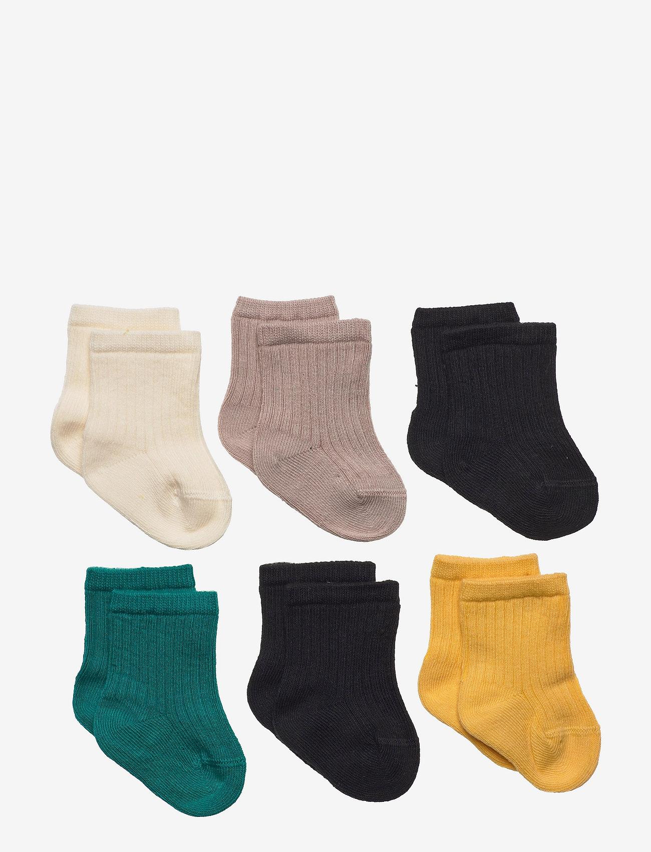 Lindex - Sock 6p sock plain - skarpetki - yellow - 0