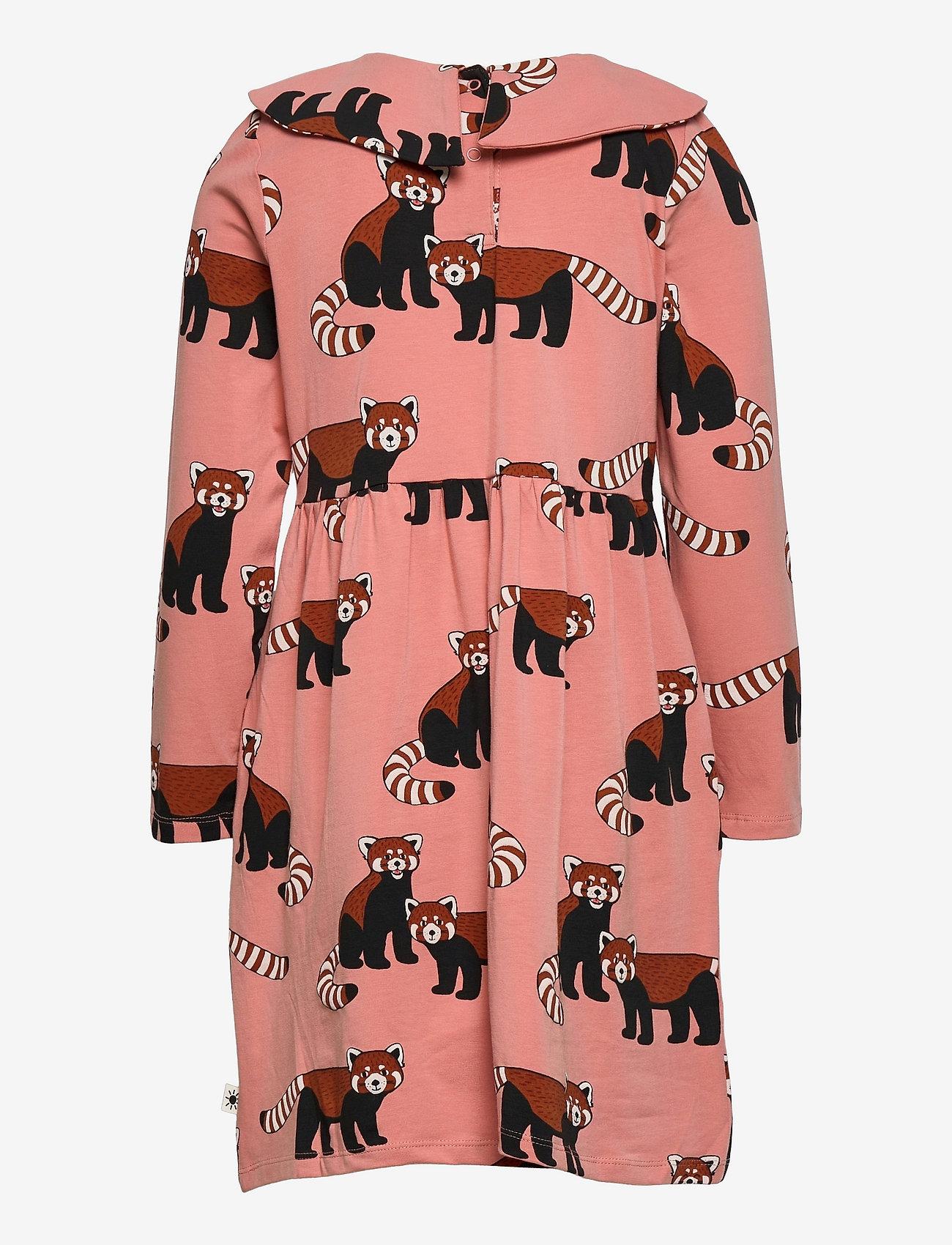 Lindex - Dress Big Collar Red panda aop - kleider - pink - 1