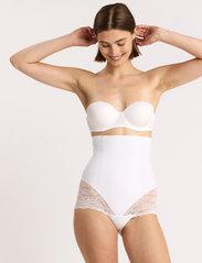 Lindex - Girdle Highwaist Kim Lace - bottoms - white - 0