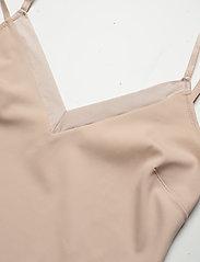Lindex - Shapingdress Matt shiny light - tops - beige - 4