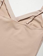 Lindex - Shapingdress Matt shiny light - tops - beige - 5