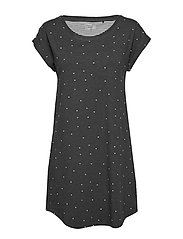 Night Dress Big T Elisa AOP - DARK GREY MELANGE
