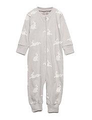 Pyjamas with Rabbits - LIGHT GREY