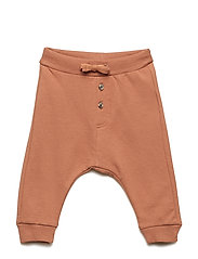 Trousers with Brushed Inside - DUSTY BROWN