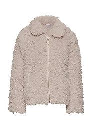 Beige pile jacket - LIGHT BEIGE