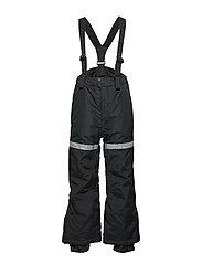 FIX Black ski trousers with braces - BLACK