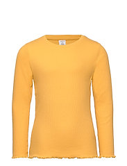 Ribbed long sleeve top - DARK DUSTY YELLOW