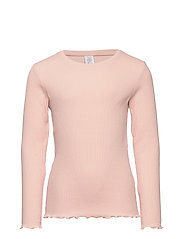Ribbed long sleeve top - DUSTY PINK