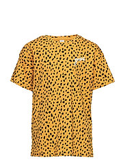 Oversized short sleeve t-shirt with pattern - DK YELLOW
