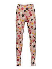 Pink leggings with multicolour dots - OFF WHITE