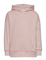Hooded sweater with brushed inside - DUSTY PINK