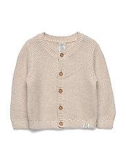 Cardigan moss knit - LIGHT BEIGE MELANGE
