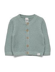 Cardigan moss knit - LIGHT DUSTY AQUA