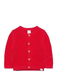 Cardigan moss knit - RED