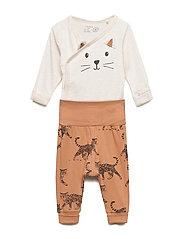 Set wrapbody trousers cat - LIGHT BEIGE MELANGE