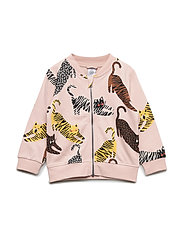 Pink soft bomber jacket with cats - DUSTY PINK