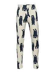 Leggings with bears and brushed inside - LT BEIGE