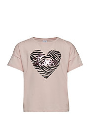 Short sleeve top with print - LIGHT DUSTY PINK