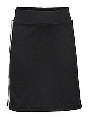 Black jersey skirt with white side stripes - BLACK