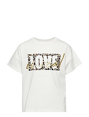 White t-shirt with leopard print - OFF WHITE