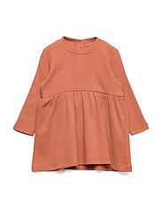 Dress rib solid - DUSTY RED
