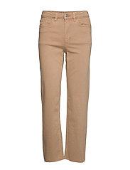 Denim trousers Nea twill cr - LIGHT BEIGE