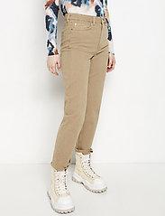 Lindex - Denim trousers Nea twill cr - straight jeans - light beige - 0
