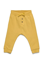 Trousers solid buttons front - DUSTY YELLOW