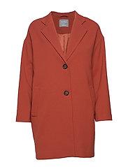 Coat Lina - DARK DUSTY RED