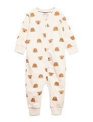 Pyjamas Teddy at back - LIGHT BEIGE