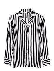 Night Shirt Woven Stripe Elsa - OFFBLACK