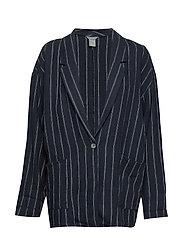 Jacket Violet linen - DARK BLUE