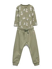 Set body trousers rabbit - DUSTY GREEN