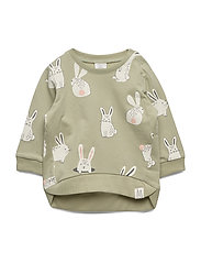 Sweater aop rabbit - DUSTY GREEN