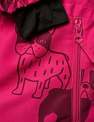 Lindex - Billie Overall dog aop - snowsuit - dark pink - 4