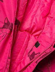 Lindex - Billie Overall dog aop - snowsuit - dark pink - 5