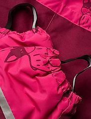 Lindex - Billie Overall dog aop - snowsuit - dark pink - 6